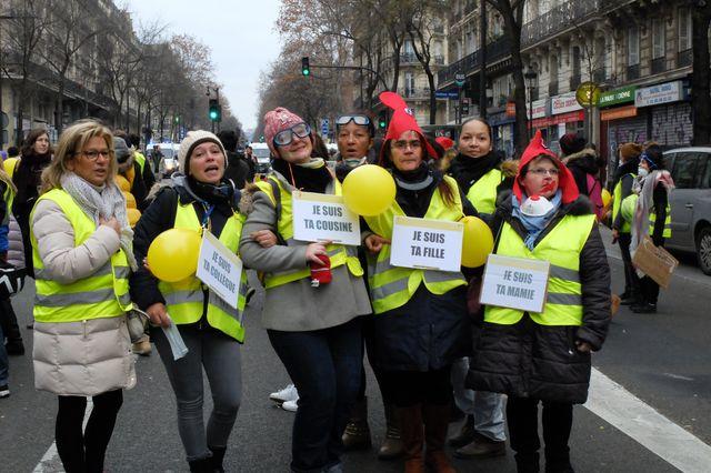Manifestation des femmes Gilets Jaunes. 06 janvier 2019, Paris.