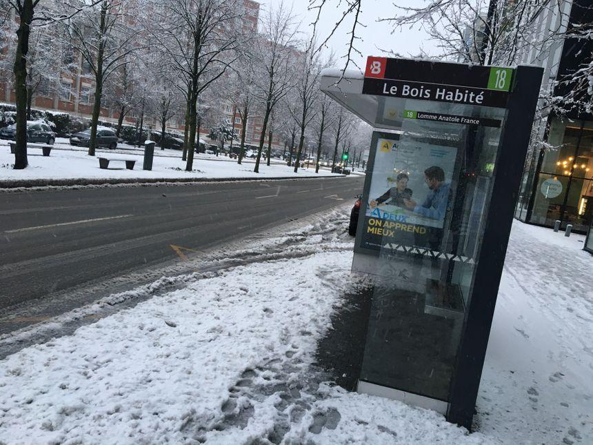 Aucun bus ne circule dans la métropole lilloise ce mercredi matin à cause des chutes de neige