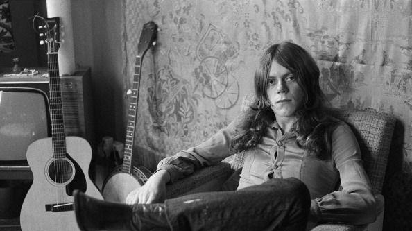 Le guitariste Mark Ashton du groupe Rare Bird. Londres, mai 1972.