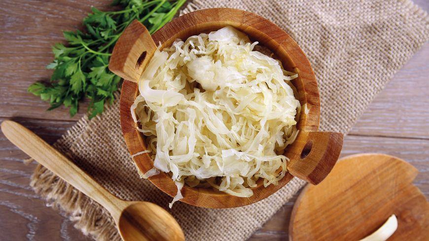 Choucroute crue prête à être dégustée en salade