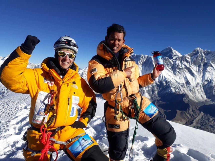 Thomas Dutheil et le sherpa avec qui il va tenter l'ascension de l'Everest en Avril 2019