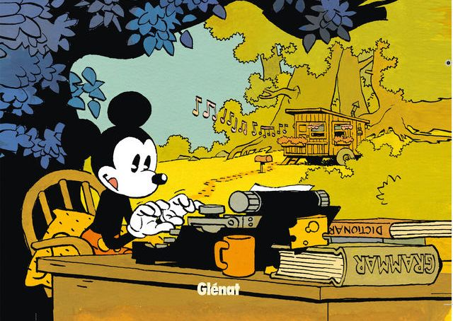 Mickey mouse vue par Cosey pour les éditions Glénat (Une mystérieuse mélodie)