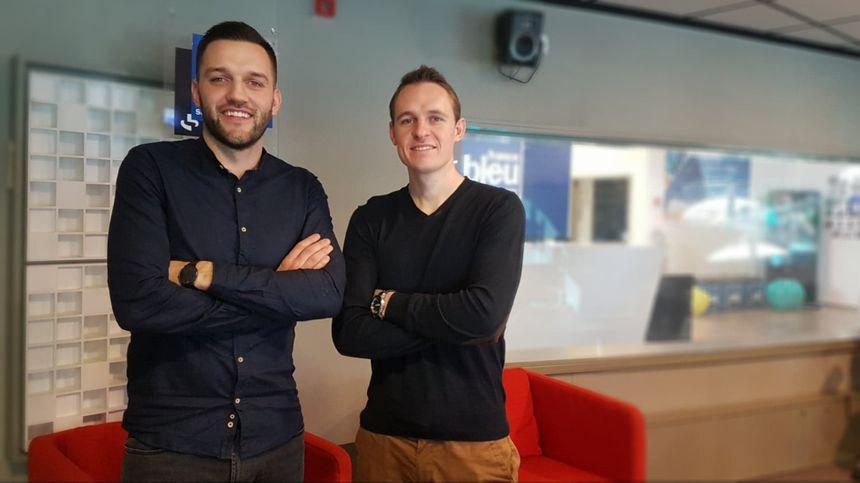 Jonathan Arnaud et Max Bayle, créateurs de MJ Innov, distributeur en France de la Tovertafel
