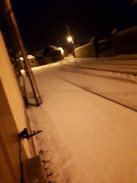 Neige à Morville-en-Beauce mercredi