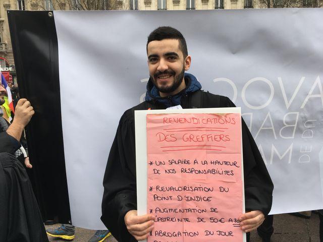 Soufiane Lahrichi, greffier au tribunal de grande instance de Paris, service des comparutions immédiates