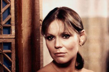 L'actrice Marthe Keller, en 1976, sur le tournage du film 'Marathon Man' de John Schlesinger.