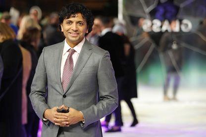 """Le réalisateur, scénariste, producteur et acteur M. Night Shyamalan pour la première européenne de """"Glass"""" au centre de Londres le 9 janvier 2019."""