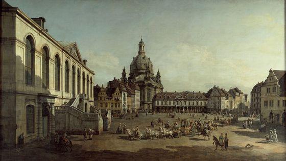 Dresde vers 1750 par Bernardo Bellotto (1720-1780) -1735-1740, Wilhelm Friedemann Bach compose sa Symphonie en fa Majeur / Musicopolis
