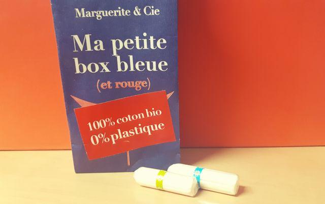 Une box de 18 tampons bio envoyée tous les mois par courrier