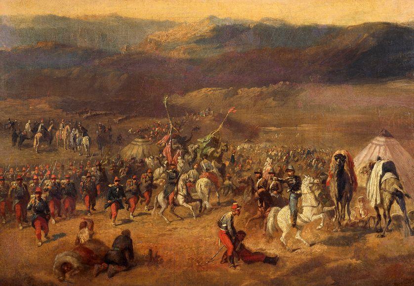 """""""La Prise de la smala d'Abd-el-Kader"""" par Horace Vernet (1843)"""