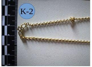 Les bijoux retrouvés par la gendarmerie