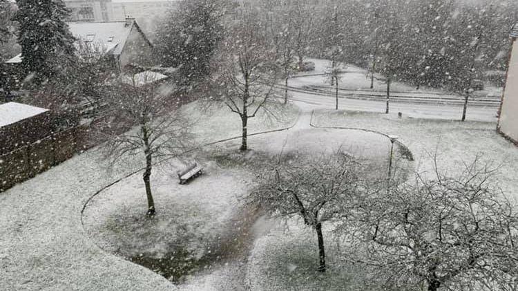 C'est sur l'Est des Côtes-d'Armor que les chutes de neige sont les plus impressionnantes.