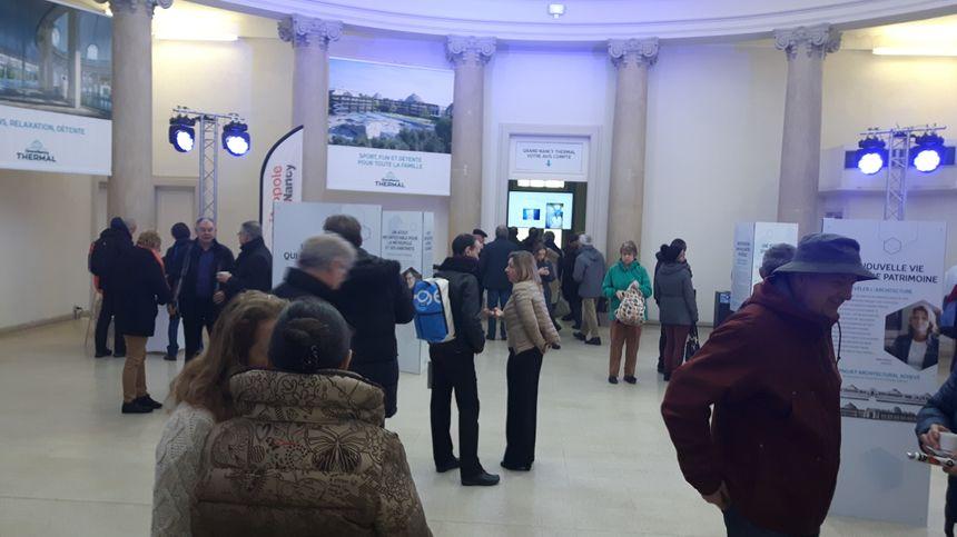 Les visiteurs sont venus nombreux pour découvrir le projet du Grand Nancy Thermal