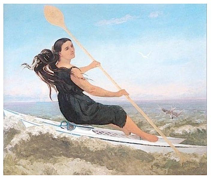 Gustave COURBET - Le femme au podoscaphe