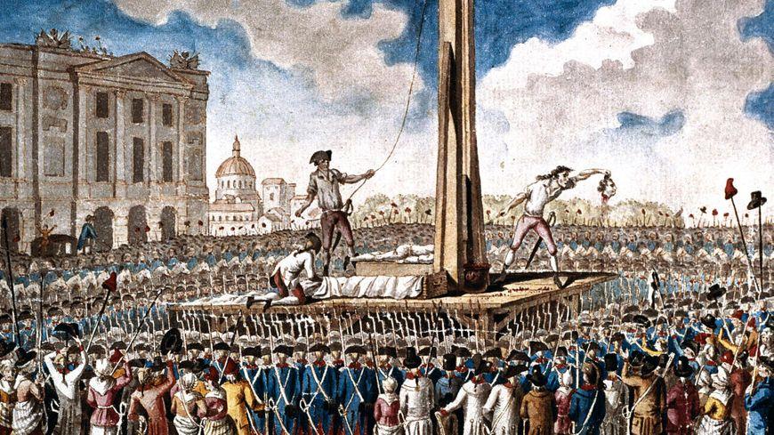 L'exécution de Louis XVI sur la place de la révolution le 21 janvier 1793, collection du musée Carnavalet, Paris.