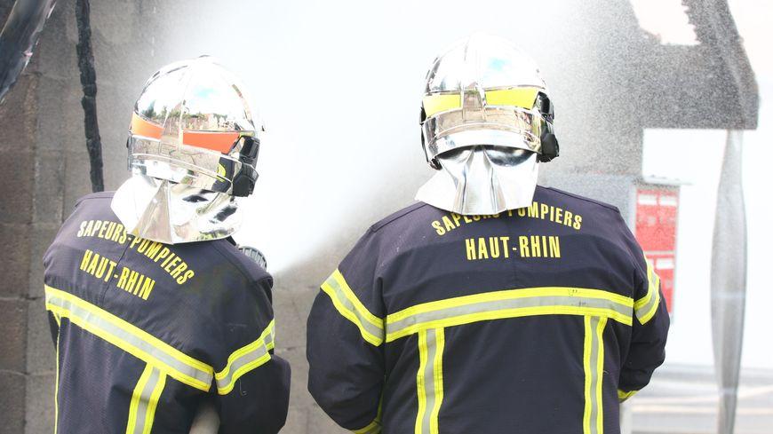 Illustration des sapeurs pompiers du Haut-Rhin.