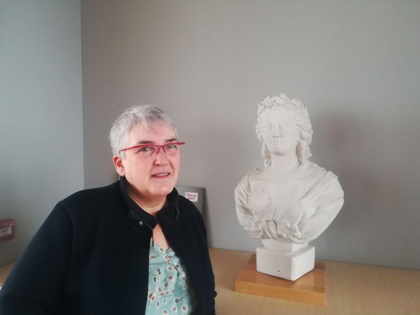 Marie-Hélène Marcel, maire d'Ailly-sur-Noye dans la Somme, le 25 janvier 2019 dans sa mairie.