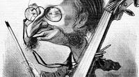 Caricature de Jacques Offenbach, 1858
