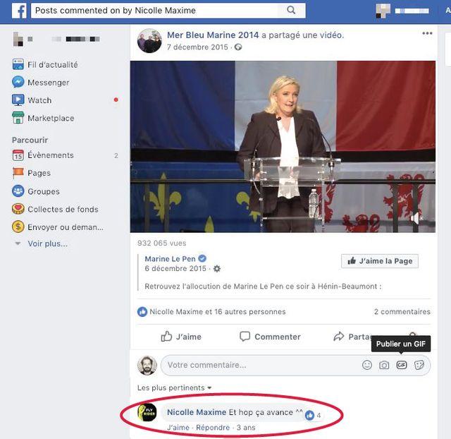 Sur Facebook, Maxime Nicolle a commenté ce discours de Marine Le Pen après le premier tour des régionales de 2015