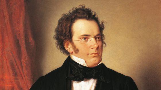 Franz Schubert, peinture de Wilhelm August Rieder (détail)