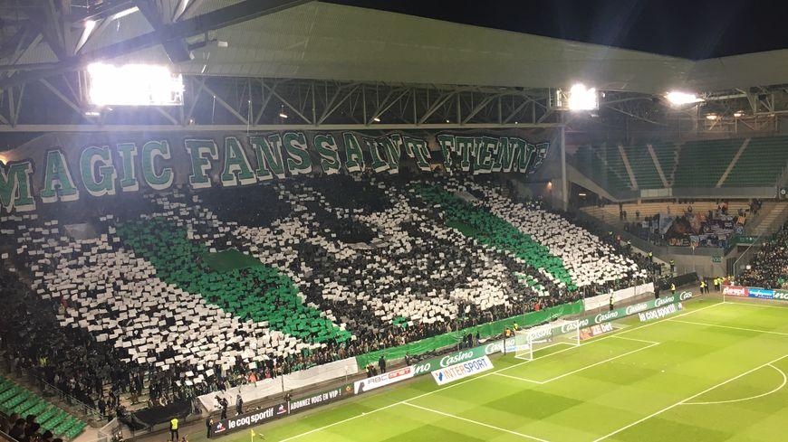 Le stade Geoffroy Guichard au coup d'envoi pour OM / Saint-Etienne (16/01/2019)