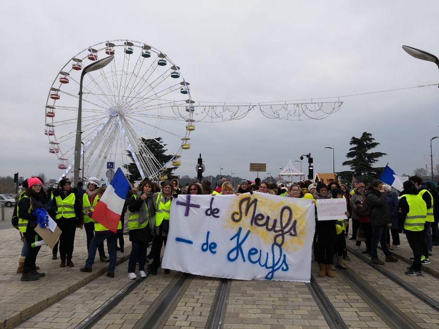 Les manifestants ont notamment emprunté la rue Nationale, à Tours