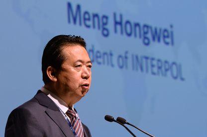 Meng Hongwei, ancien président d'Interpol, le 4 juillet 2017, à Singapour.