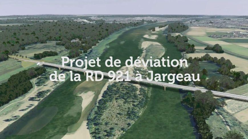Le projet de déviation de la RD 921 prévoit la construction d'un nouveau pont sur la Loire