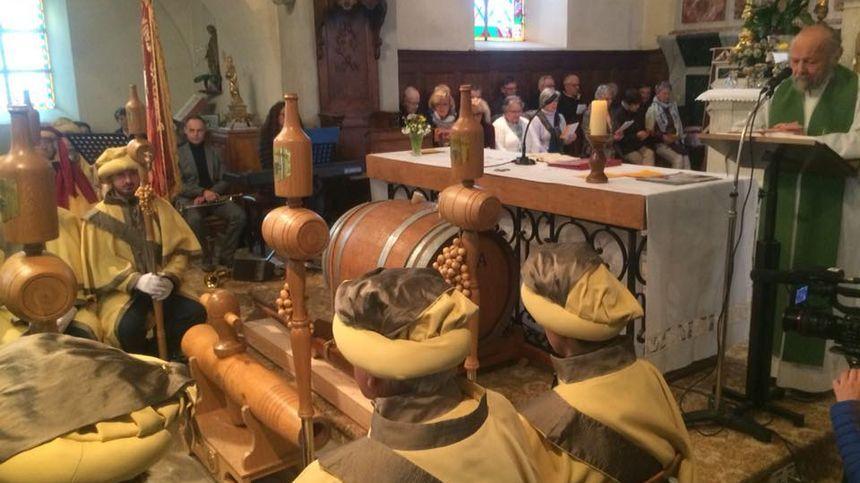 Messe de bénédiction du tonneau - Percée du vin jaune 2018 à L'Etoile