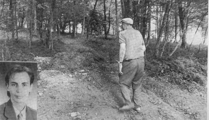 Le bois où le corps de Stéphane Dieterich a été retrouvé.