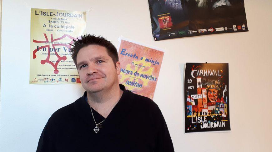 Vincent Rivière, co-président de l'association Escota e Minje à L'Isle-Jourdain (32)