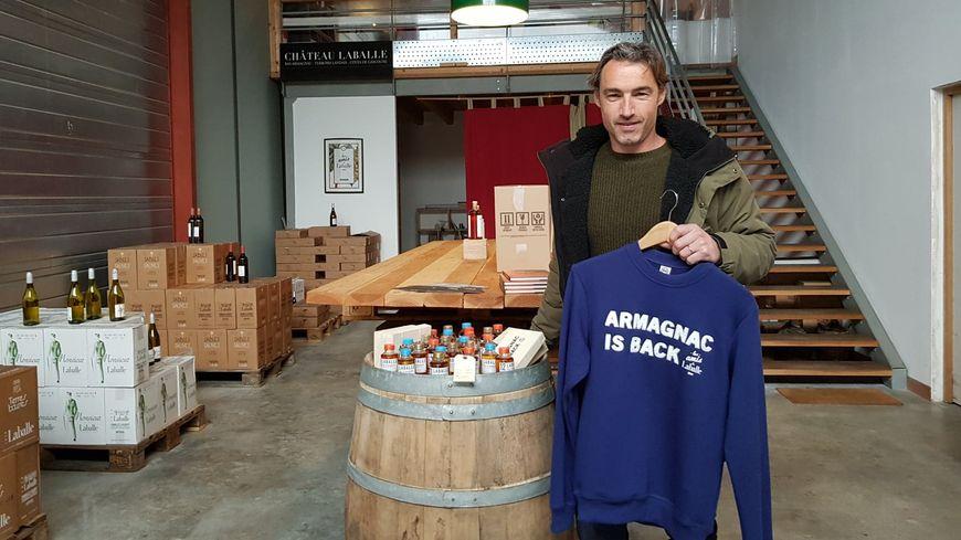 """Un millier de sweat-shirts """"Armagnac is back"""" s'est vendu depuis le lancement du produit il y a un an et demi dans les Landes."""