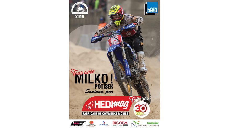 Hedimag et France Bleu Nord soutiennent Milko POTISEK , vainqueur de l'Enduropale 2018. Tous avec Milko !