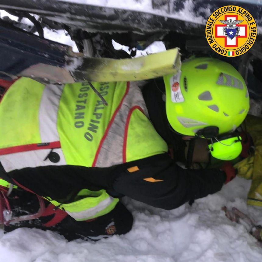 Les secours alpins sur la zone