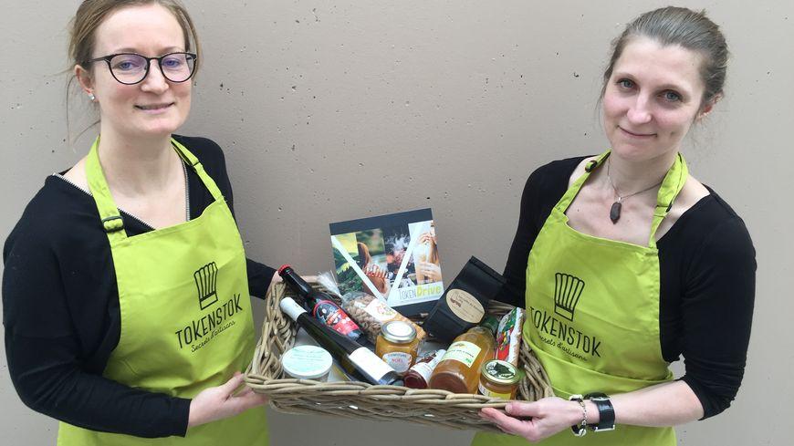 Charlotte Reinhart (à droite ) et son associée cherchent 60.000 euros pour poursuivre l'activité du drive de produits locaux