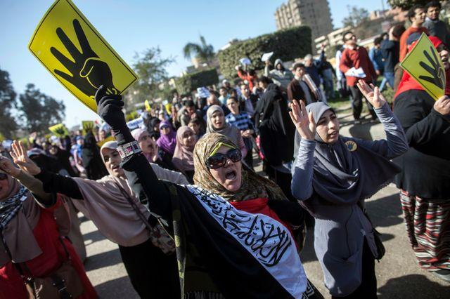 Manifestation de sympathisants des Frères musulmans au Caire
