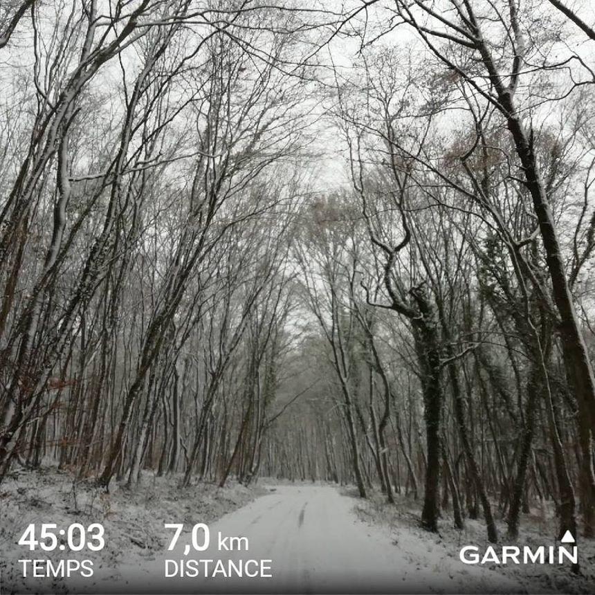 Footing même sous la neige pour Laurence à Valmestroff