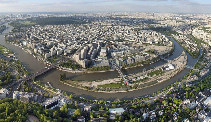 Boulogne Billancourt vu du ciel