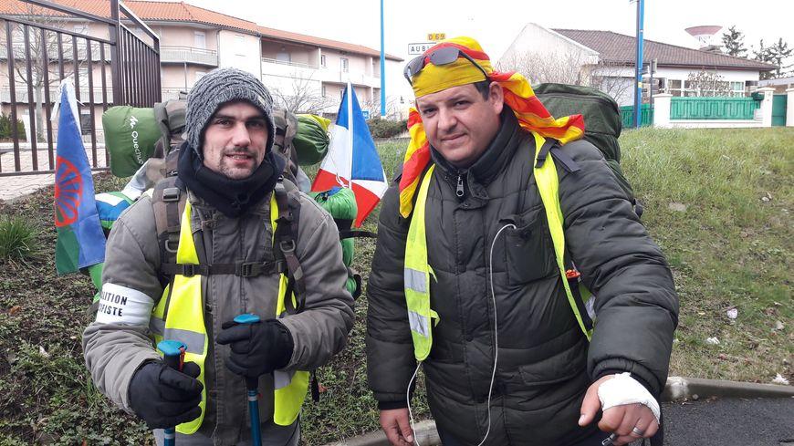"""Stéphane (à droite) et Damien """"marchent pour la vie"""""""