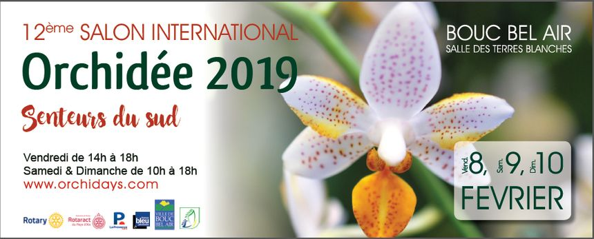 12ème Salon International Orchidée 2019 à Bouc Bel Air