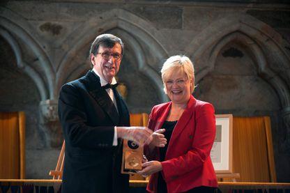 Bruno Latour, en 2013, lors de la remise du prix Holberg International Memorial Prize