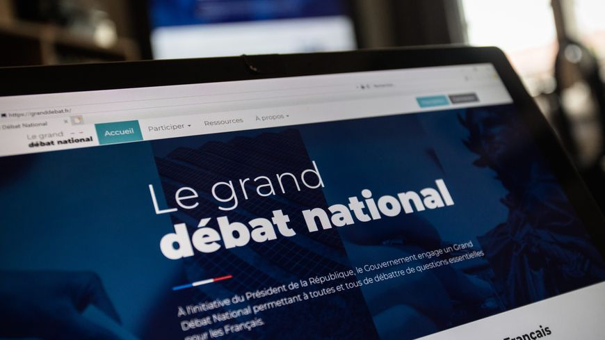 Site internet du grand débat national, en janvier 2019