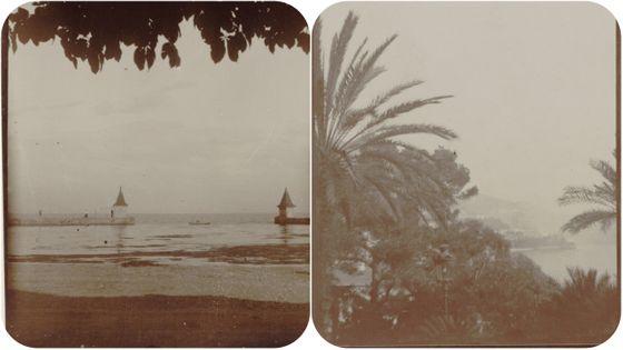 Photos prise par Gabriel Fauré en Suisse (1908), à Monte Carlo (1912)