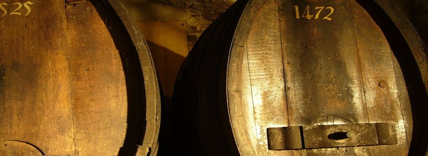 Tonneau qui a abrité le vin millésimé 1472, entre 1718 et 2014