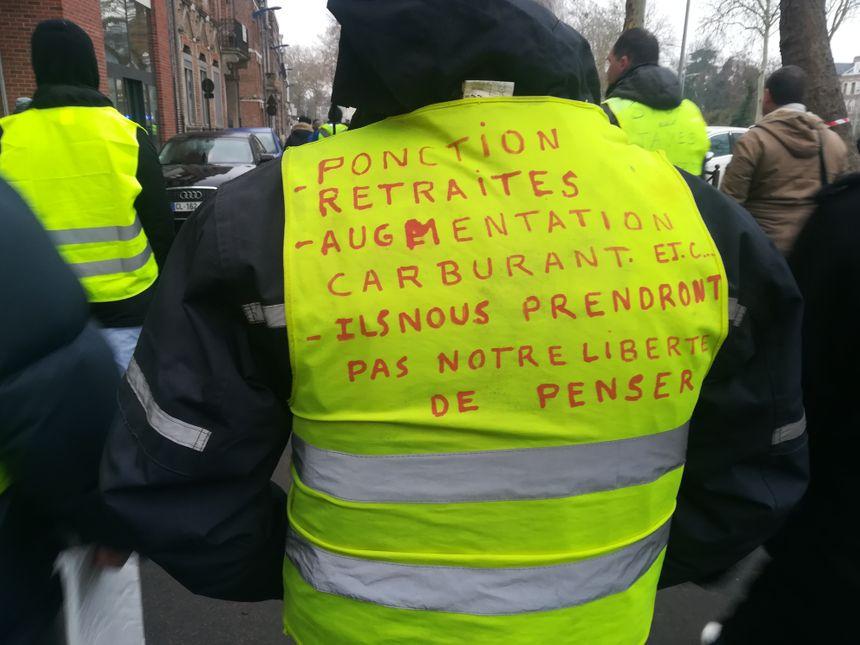 Le message d'un gilet jaune à Amiens