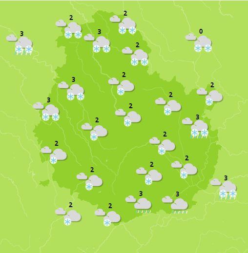 carte Météo France pour la Côte d'Or la nuit prochaine
