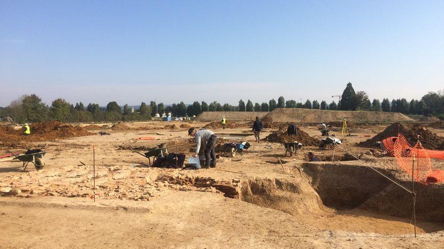 Les fouilles archéologiques sur le chantier d'Appoigny en 2016