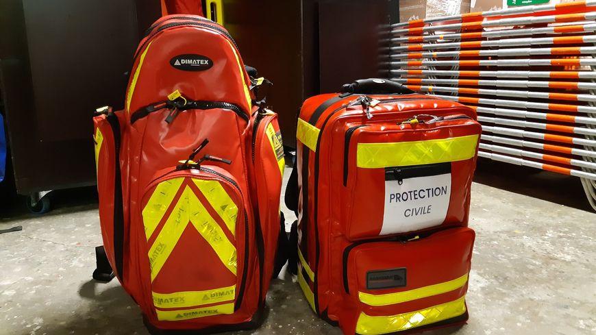 Une dizaine de sacs de ce type ont été dérobés dans le local de Saint-Brieuc de la Protection civile