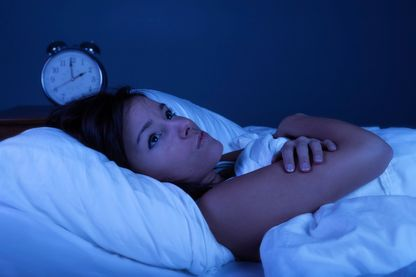 young woman suffering from insomnia