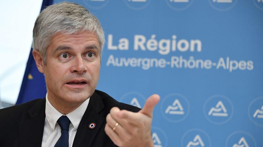Laurent Wauquiez, le président de la région Auvergne Rhône-Alpes annonce un plan de 8 millions d'euros en soutien aux entreprises touchées par les manifestations de gilets jaunes